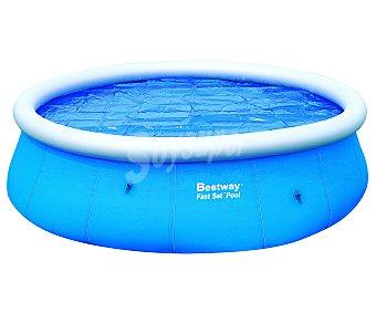 BESTWAY Cubierta solar para piscinas tubulares de 457 centímetros. Medida de la cubierta 440 centímetros. Usa la luz del sol para calentar el agua durante el día y mantiene la temperatura durante la noche y en los días nublados 1 unidad
