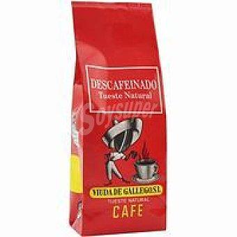 VIUDA de GALLEGO Café molido natural descafeinado paquete 250 g