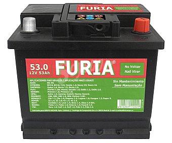 FURIA Batería de Automóvil de 12v y 53 Ah, Potencia de Arranque: 530 Amperios 1 Unidad