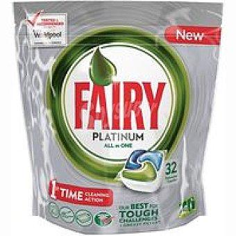 Fairy Platinum Lavavajillas en cápsulas limón Bolsa 32 dosis