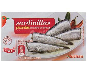 Auchan Sardinillas picantes en aceite de girasol Lata de 65 grs
