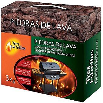 Tres Estrellas Piedra de lava para barbacoa de gas 3 kg