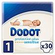 Pañales recién nacido de 2 A 5 kg talla 1 Paquete 30 unidades Dodot Sensitive