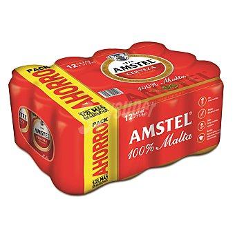 Amstel Cerveza Pack de 12 latas de 37,5 cl