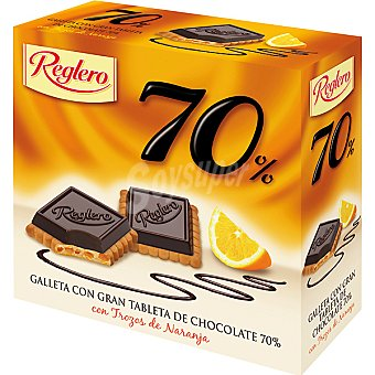 Reglero Galleta 70% de chocolate-naranja Caja 140 g