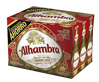Alhambra Cerveza premium lager Pack de 12 botellines de 25 centilitros
