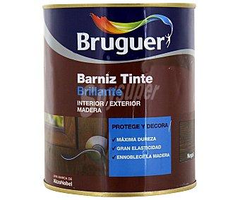 BRUGUER Barniz para muebles con tinte de color nogal y acabado brillante 0,75 litros