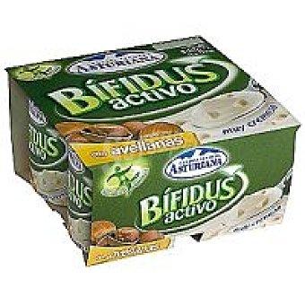 Central Lechera Asturiana Yogur bifidus avellana Pack 4 x 125 g