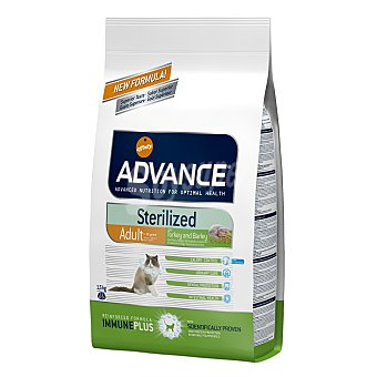 Pienso para gatos esterilizados Advance Adult Sterilized pavo y cebada 1,5 Kg