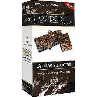CORPORE DIET Barritas saciantes sabor chocolate enriquecidas con vitaminas 5 unidades envase 175 g 5 unidades