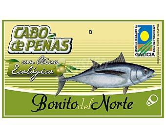 Cabo de Peñas Bonito del norte en aceite de oliva virgen extra ecológico 72,5 gramos peso neto escurrido