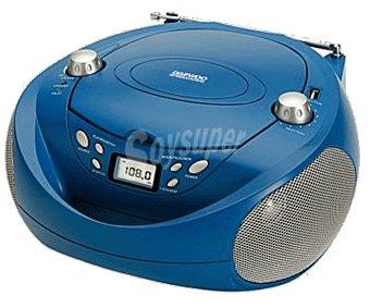 Daewoo Radio CD portátil DBU-37BL, usb, radio FM, aux-in 3,5 mm DBU-37 BL