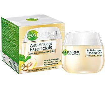 Skin Naturals Garnier Crema Essencials de día anti-arrugas nutritiva +35 años tarro 50 ml alisa reduce las arrugas reafirma e ilumina Tarro 50 ml