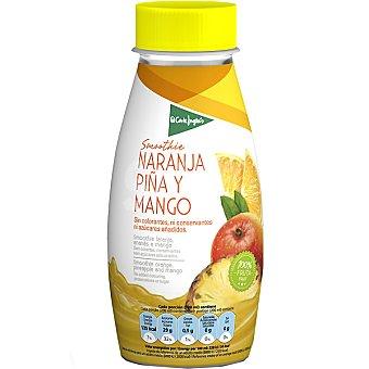 El Corte Inglés smothie de naranja, piña y mango  envase 250 ml