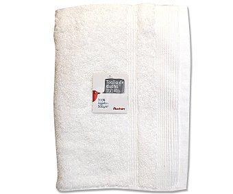 Auchan Toalla para ducha de algodón, color blanco, 70x140 centímetros 1 Unidad
