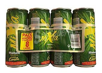 MAHOU Cerveza con limón mixta 8 unidades de 330 cc (2640 cc)