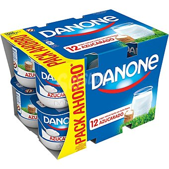 Danone Yogur natural azucarado  12 unidades de 125 g
