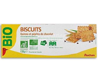 Auchan Galletas con pepitas de chocolate y quinoa ecológicas 16 uds. 135 gr