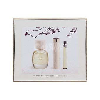 Ikiru Lote mujer for her eau de toilette vaporizador 100 ml + perfumador + 2 recargas U