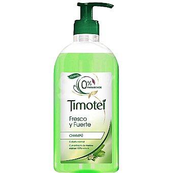 Timotei Champú Fresco y Fuerte con extracto de hierbas alpinas 0% parabenos para cabello normal Dosificador 750 ml