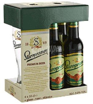 Staropramen Cerveza premium Beer Pack de 4x33 cl