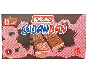 Bandama Galleta barquillo bañada en chocolate