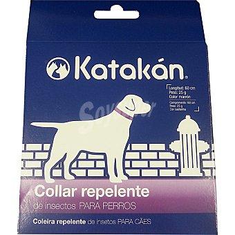 KATAKÁN Collar repelente de insectos para perros medida 60 cm color marrón envase 1 unidad Envase 1 unidad