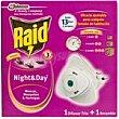 Insecticida eléctrico pack night&day 2aparatos + 2recambios  Raid