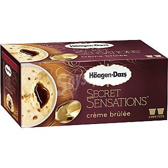 Häagen-Dazs Helado de crema caramelizada con caramelo fundido estuche 200 ml 2 unidades de 100 ml