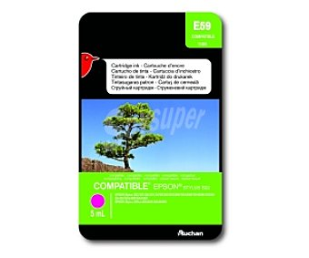 Auchan Cartucho Magenta T1283 (E59) - Compatible con impresoras: epson Sytlus S22 / SX125 / SX130 / SX230 / SX235 / SX420 / SX425 / SX430 / SX435 / SX440W / SX445W epson Stylus Office BX305F / BX305FW