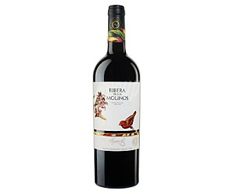 Los Molinos Vino tinto tempranillo con denominación de origen Valdepeñas Botella de 75 cl