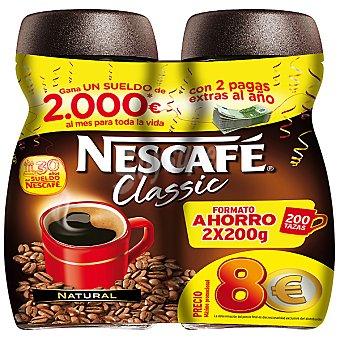 Nescafé Classic café soluble natural formato ahorro 2 frasco 200 g