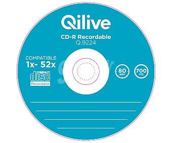 Qilive Pack tarrina de 10 CD grabable cd-r Spindle, 700MB, 80min, velocidad 1X-52X Q.9224