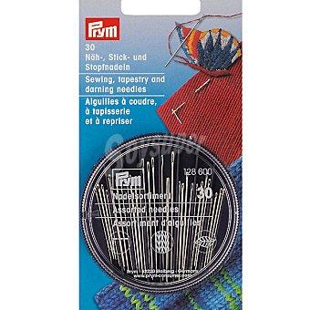 PRYM Estuche de 30 agujas para coser bordar o zurzir de diferentes tamaños