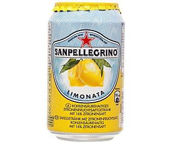 San Pellegrino Nestlé Agua con gas sabor limón Lata 33 cl