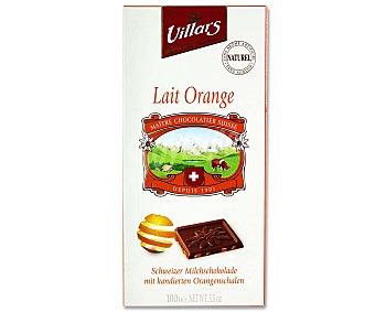 Villars Chocolate suizo con leche y naranja Tableta de 100 gramos