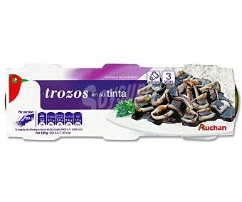 Auchan Trozos de pota en su tinta Pack 3 Unidades de 51 Gramos