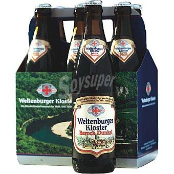 WELTENBURGER Barock Dunkel Cerveza de monasterio de trigo alemana + 1 botella gratis Pack 5X50cl