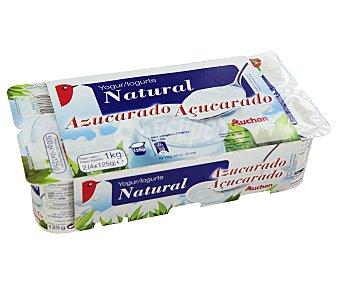 Auchan Yogur natural azucardo Pack de 8 unidades de 125 gramos