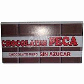 Chocolates peca Chocolate puro sin azúcar Tableta 100 g