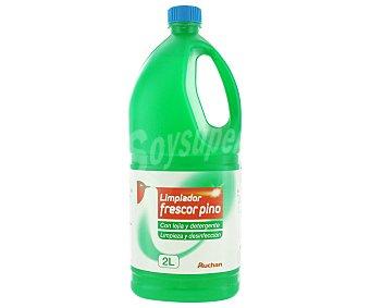 Auchan Limpiador Detergente Lejía Frescor Pino 2 Litros