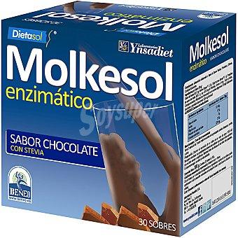 YNSADIET Molkesol Suero de leche molke sabor chocolate Estuche 30 unidades