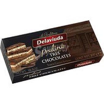 Delaviuda Turrón 3 chocolates Caja 300 g