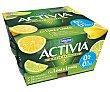 Activia de lima-limón 0% 4 unidades de 125 g Danone