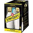 Schweppes premium mixers tónica & toque de lima + Miniatura de ginebra Pack 4 botellas 20 cl Bombay Sapphire