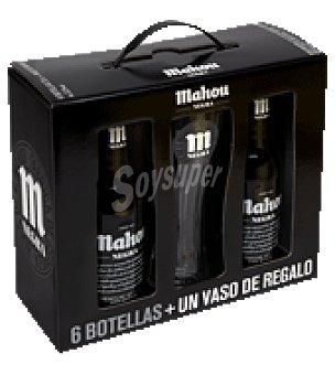 Mahou Cerveza Negra Pack de 6x33 cl
