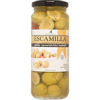Escamilla aceituna verdial partida aliñada frasco 198 g