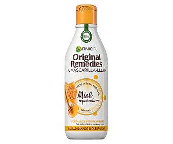 Original Remedies Garnier Mascarilla en leche con miel, especial cabellos dañados o quebradizos 250 ml