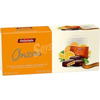 Delaviuda Onzas de naranja cubiertas de chocolate Estuche 150 g