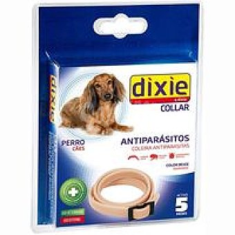 Dixie Collar antiparásito beige Pack 1 unid